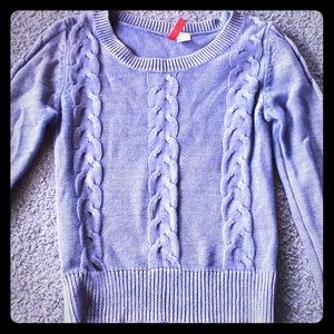 Divided H&M blue cable knit sweater